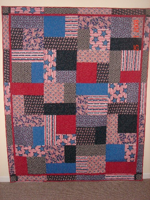 Steve's Red White and Blue Quilt